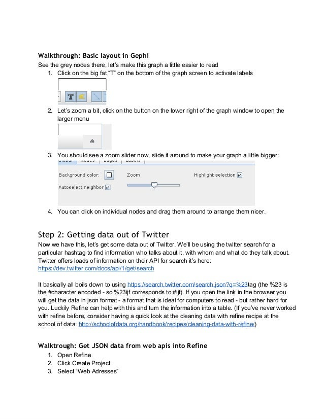 Social network analysis for journalists using the twitter api Slide 3