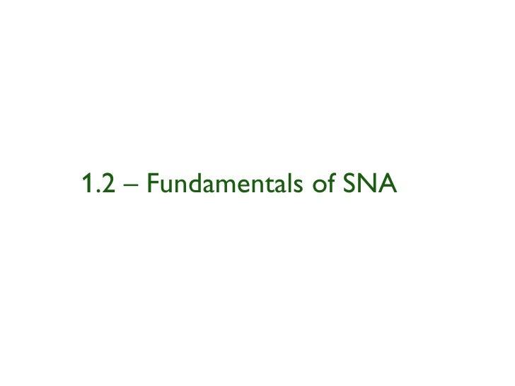 Social Network Analysis Intro Part I