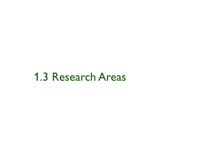 1.3 Research Areas