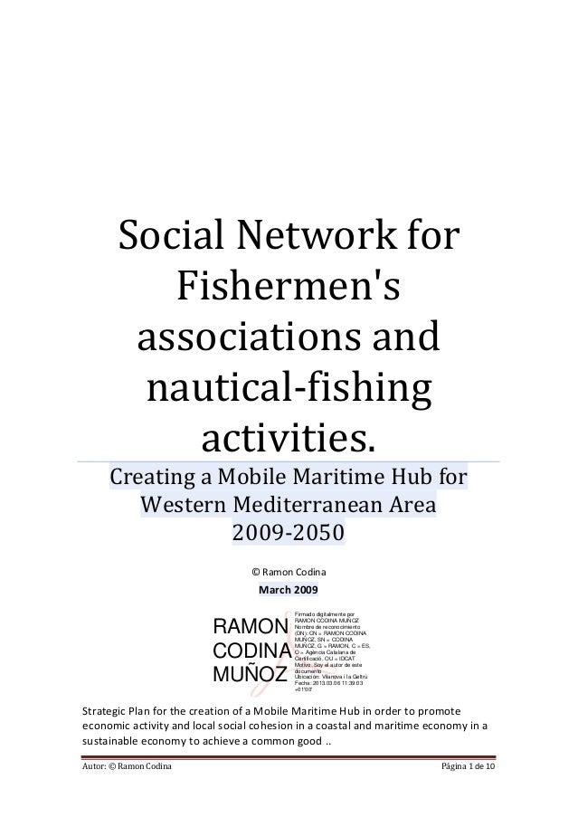 Social Network for           Fishermens         associations and         nautical-fishing            activities.      Crea...