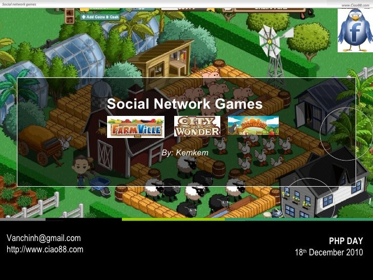 Social Network Games By: Kemkem [email_address] http://www.ciao88.com PHP DAY 18 th  December 2010