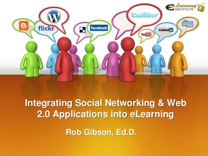 Integrating Social Networking & Web   2.0 Applications into eLearning        Rob Gibson, Ed.D.