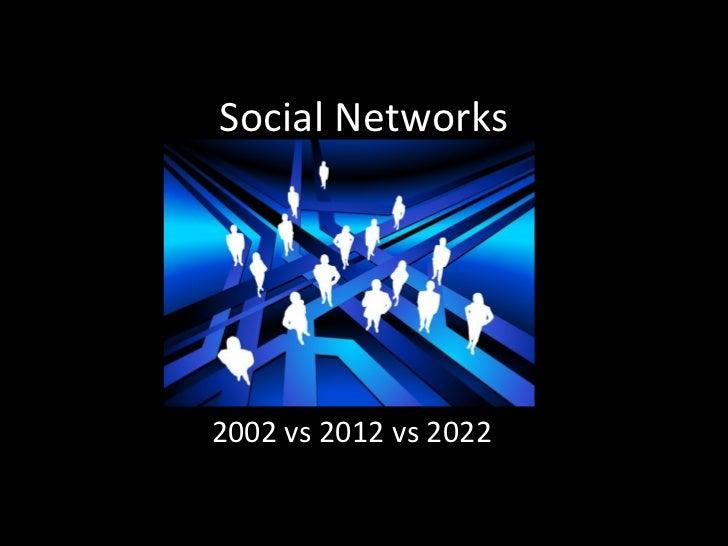 Social Networks 2002 vs 2012 vs 2022