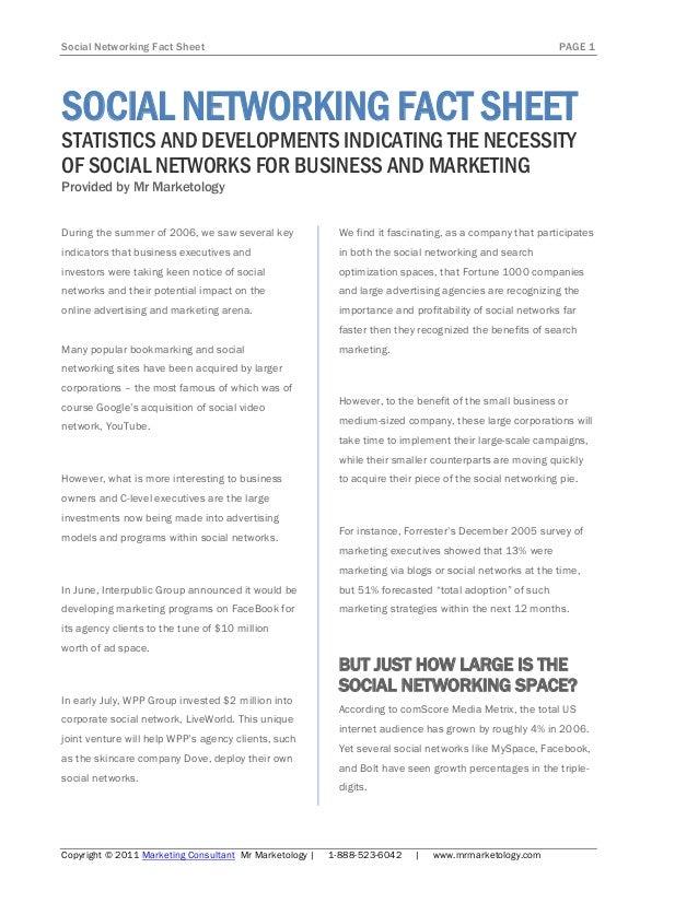 Social Networking Fact Sheet                                                                              PAGE 1SOCIAL NET...