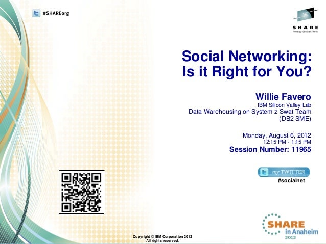 Social Networking:                          Is it Right for You?                                                  Willie F...