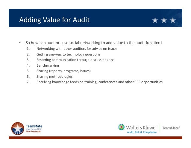 audit adding value to an organization s The cae must establish a risk-based plan to determine the priorities of the internal audit activity, consistent with the organization's goals[1] the purpose of annual audit planning is to ensure that the audit is relevant to the organization's needs and is adding value towards the achievement of the preset objectives.