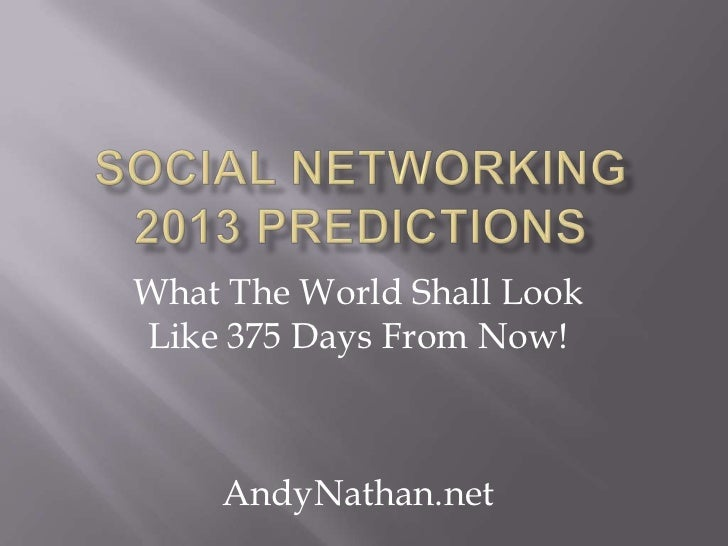 What The World Shall LookLike 375 Days From Now!    AndyNathan.net
