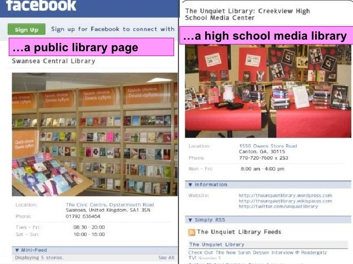 ... Public Library Page U2026 A High School Media Library ...  Library Page