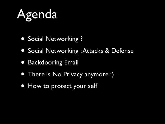 Social Network Security & Backdooring email Slide 3