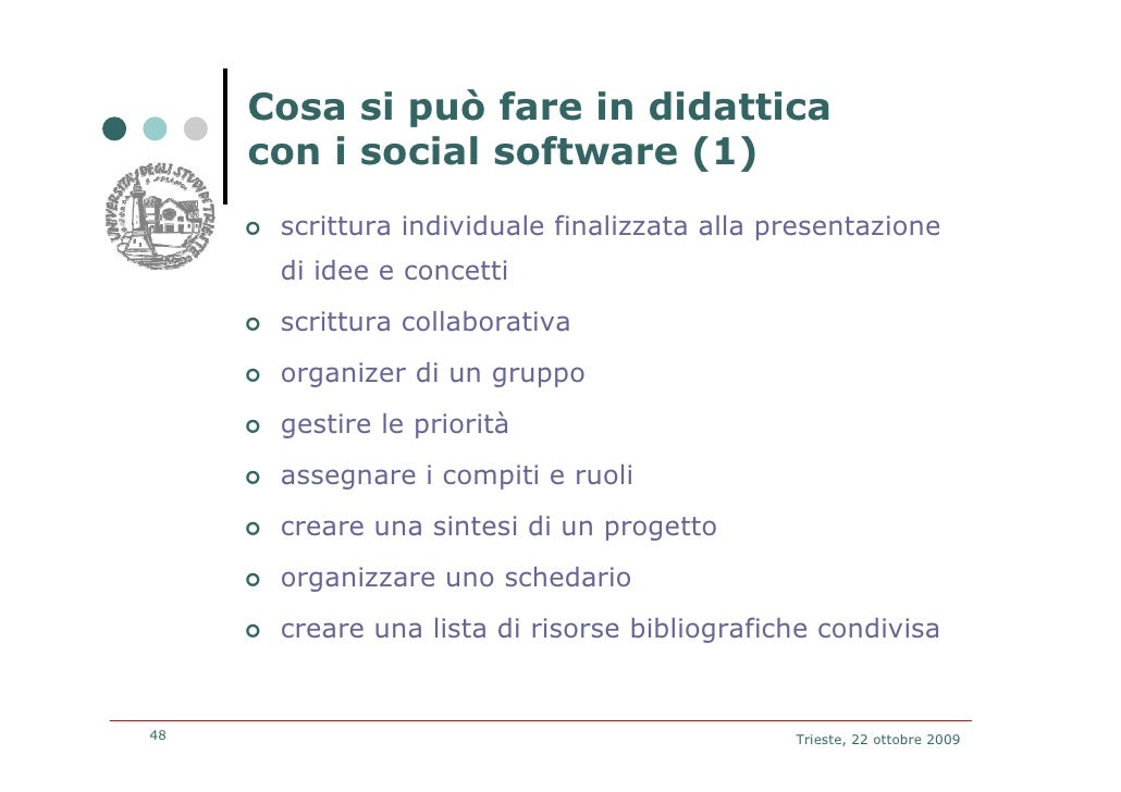 gli ambienti di social networking nella didattica a scuola