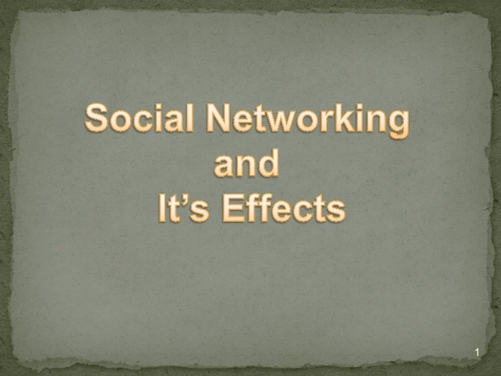 effects of social networking Social media may have revolutionized communication, but it threatens our ability to communicate without the benefit of body language, we are operating with a major deficit.