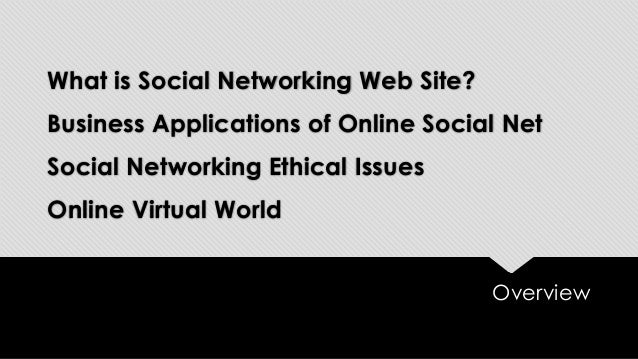 ethical issues in social networking Ethical issues in social media by josh king avvo, inc avvo, inc ©2014.