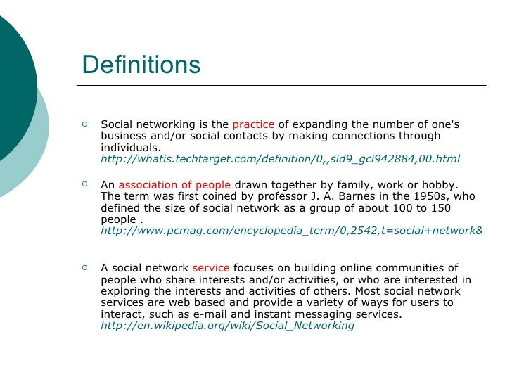 What is social networking? 4.