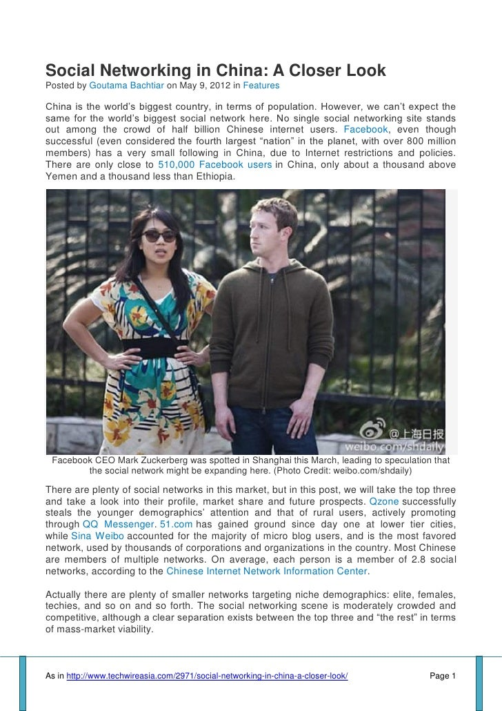 """Social Networking in China: A Closer LookPosted by Goutama Bachtiar on May 9, 2012 in FeaturesChina is the world""""s biggest..."""