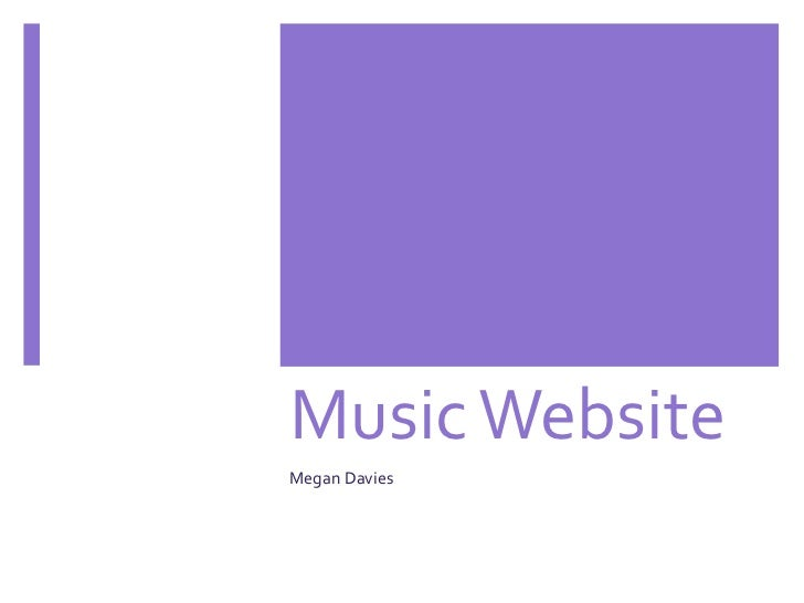 Music WebsiteMegan Davies