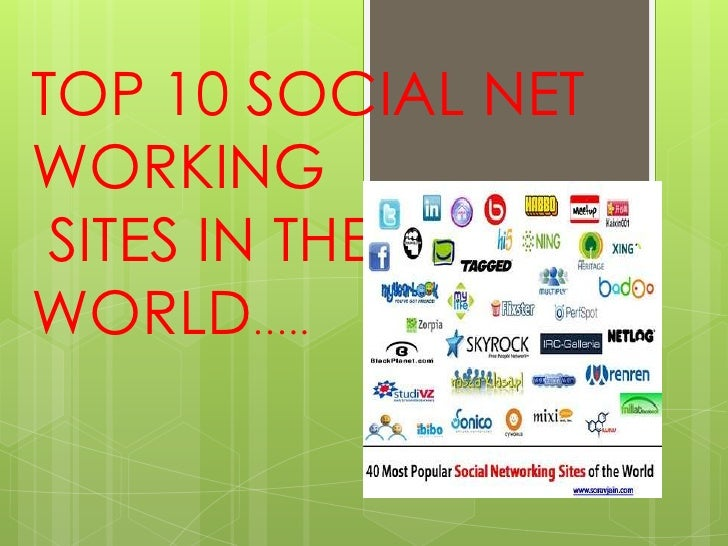 TOP 10 SOCIAL NETWORKING SITES IN THEWORLD…..