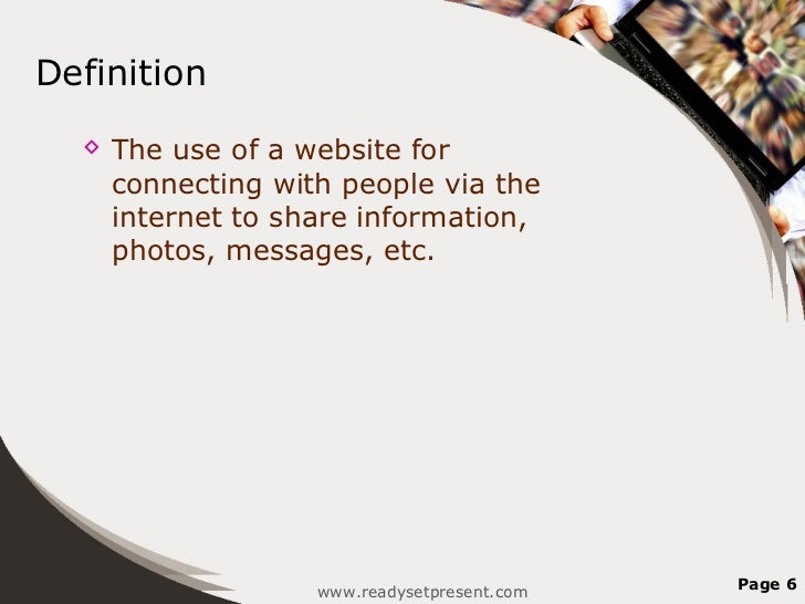 Social media marketing powerpoint presentation for Soil media definition