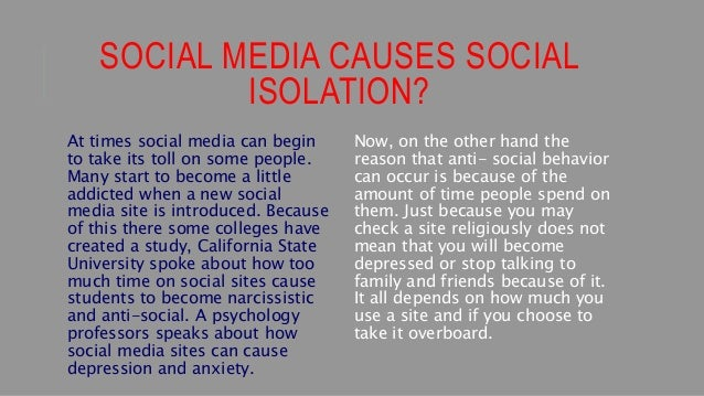 causes of social media