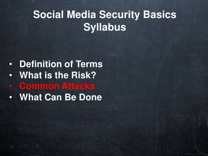 Social media basics security loopholes with twitter for Soil media definition