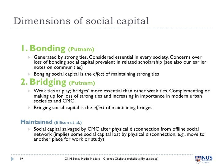 social capital essays Social capital is the soft side of business or the informal networks, accumulated know-how, mutual understandings, and trust that make organizations effective while it.