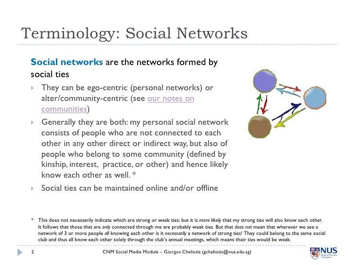 ... Media, National University of Singapore; 2. Terminology: Social ...