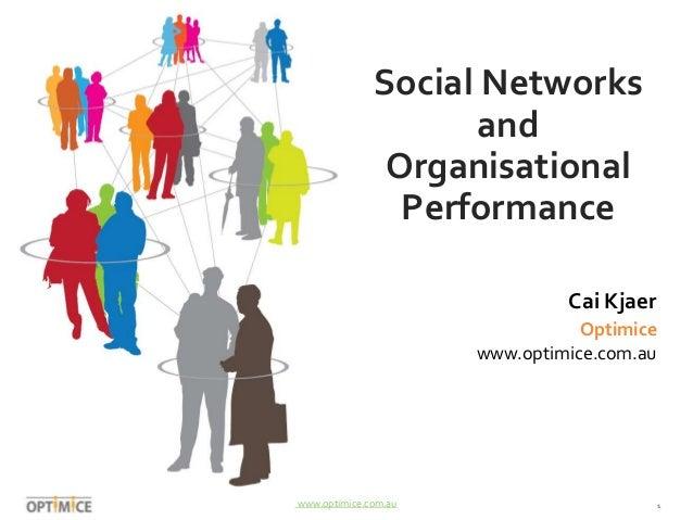 Social Networks  and  Organisational  Performance  Cai Kjaer  Optimice  www.optimice.com.au  www.optimice.com.au 1