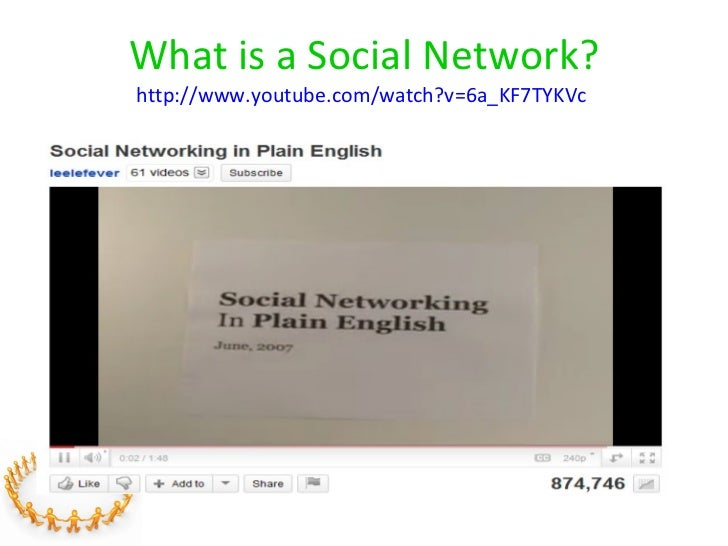 What is a Social Network? http://www.youtube.com/watch?v=6a_KF7TYKVc