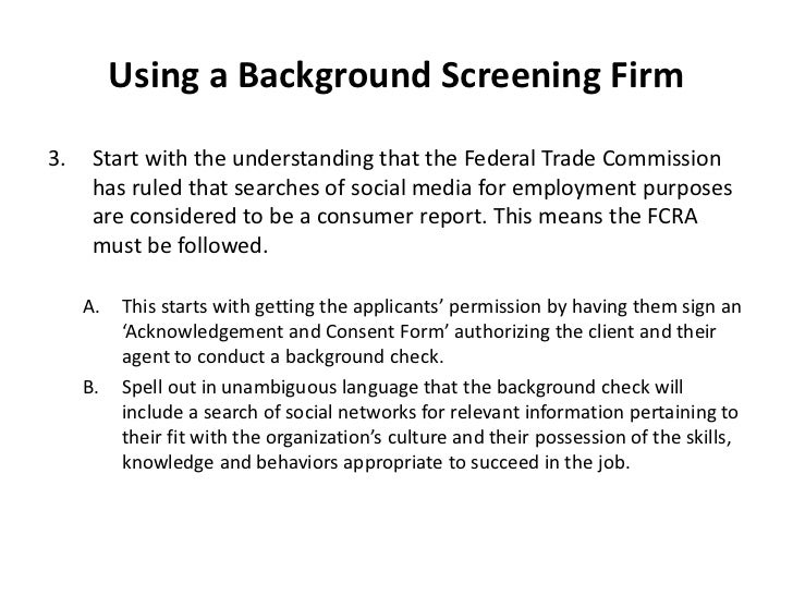 Social Networks Background Checks