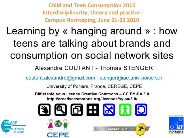 Child and Teen Consumption 2010         - Interdisciplinarity, theory and practice -            Campus Norrköping, June 21...