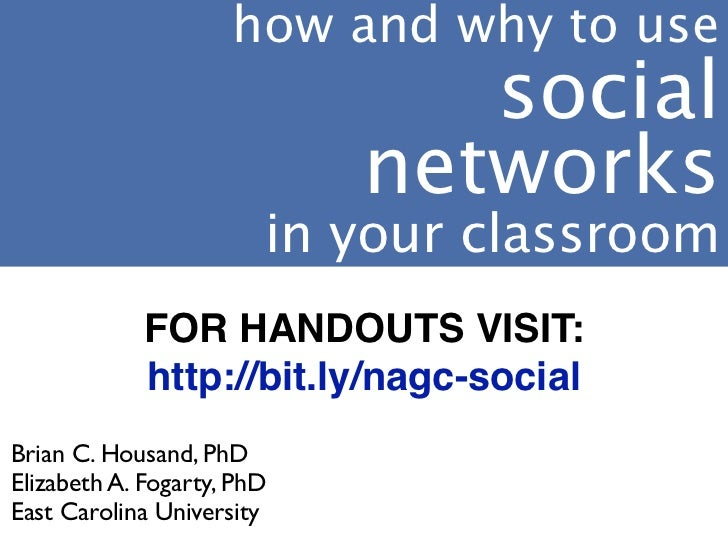 how and why to use                               social                            networks                        in your...