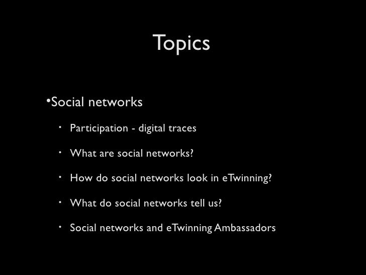 Social networks and networking to support eTwinning teachers Slide 2