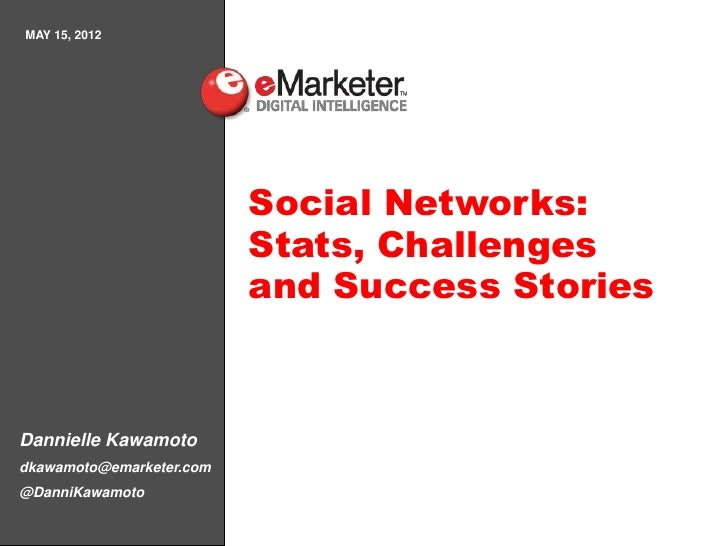 MAY 15, 2012                          Social Networks:                          Stats, Challenges                         ...