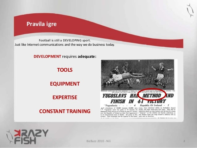 Pravila igre Football is still a DEVELOPING sport. Just like Internet communications and the way we do business today. DEV...