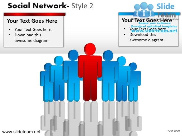 Social network style design 2 powerpoint presentation templates