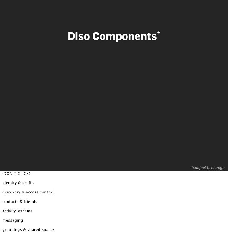 Diso   Components*                                                       *subject to change (DON'T CLICK)  identity & profi...