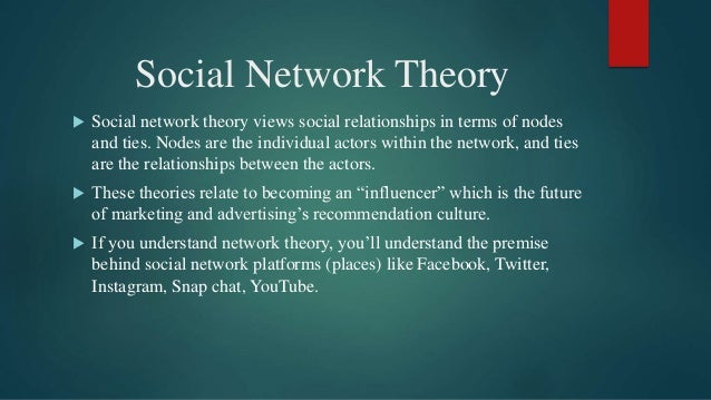 Theories of Social Networking Sites