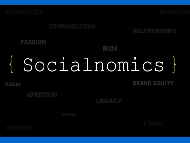 Socialnomics BRAND EQUITY MEDIA ROI PASSION ADVERTISING RELATIONSHIPS LEGACY COMMUNICATION DNA TIME CONTENT MARKETING AUTH...
