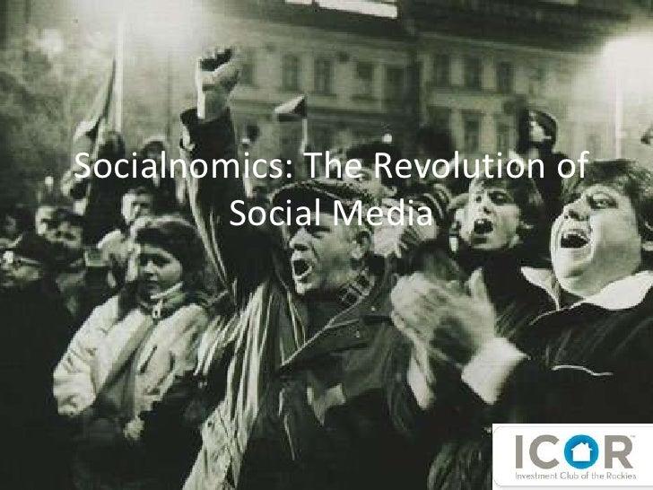 Socialnomics: The Revolution of Social Media<br />ICOR, October 2009<br />