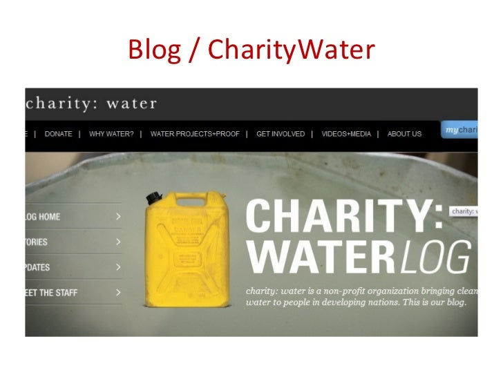 Blog / CharityWater