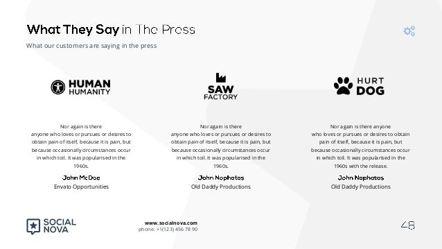 social nova powerpoint presentation template