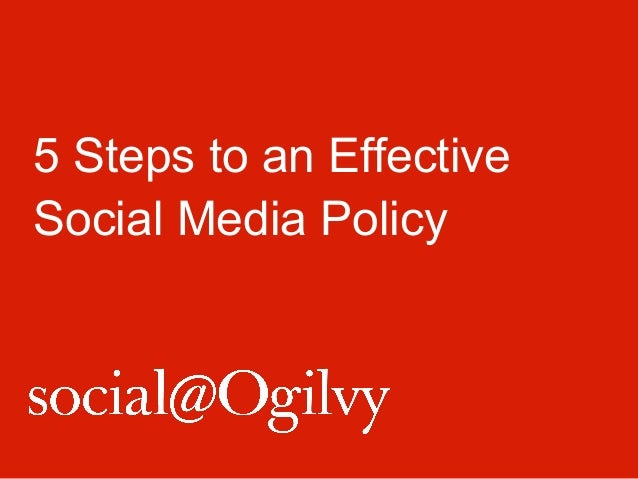 5 Steps to an Effective Social Media Policy