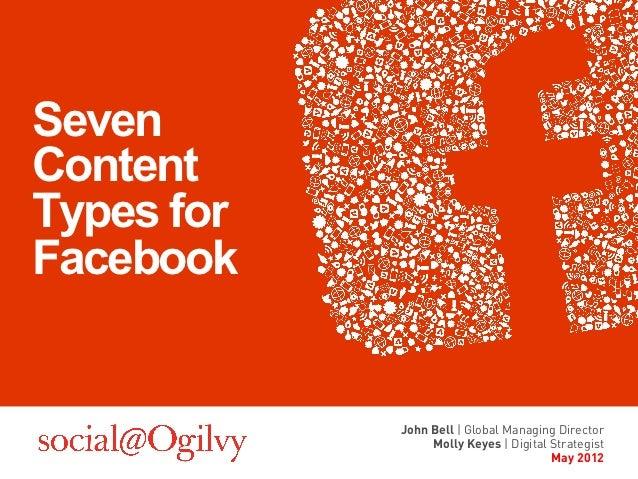 SevenContentTypes forFacebook            John Bell | Global Managing Director                 Molly Keyes | Digital Strate...