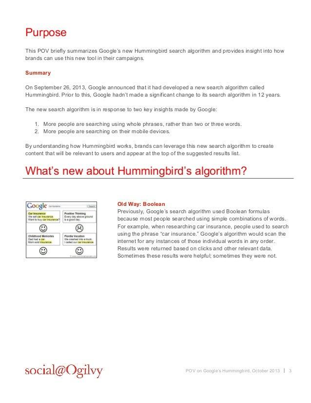 Social@ogilvy Google Hummingbird POV - October 2013 Slide 3