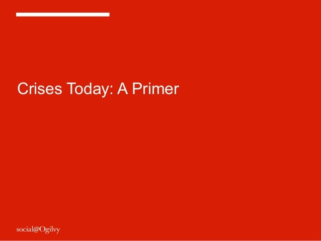 Crises Today: A Primer