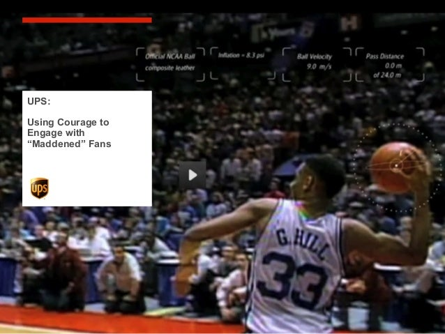 """Experience in socialmedia will help yourespond fast … andappropriatelyUPS:Using Courage toEngage with""""Maddened"""" Fans"""