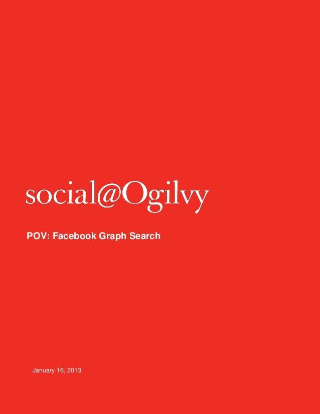 POV: Facebook Graph Search January 16, 2013
