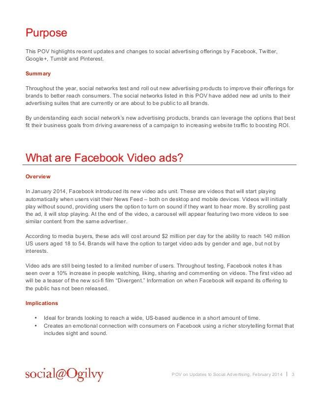 Social@ogilvy Social Platform Advertising Updates POV: February 2014 Slide 3