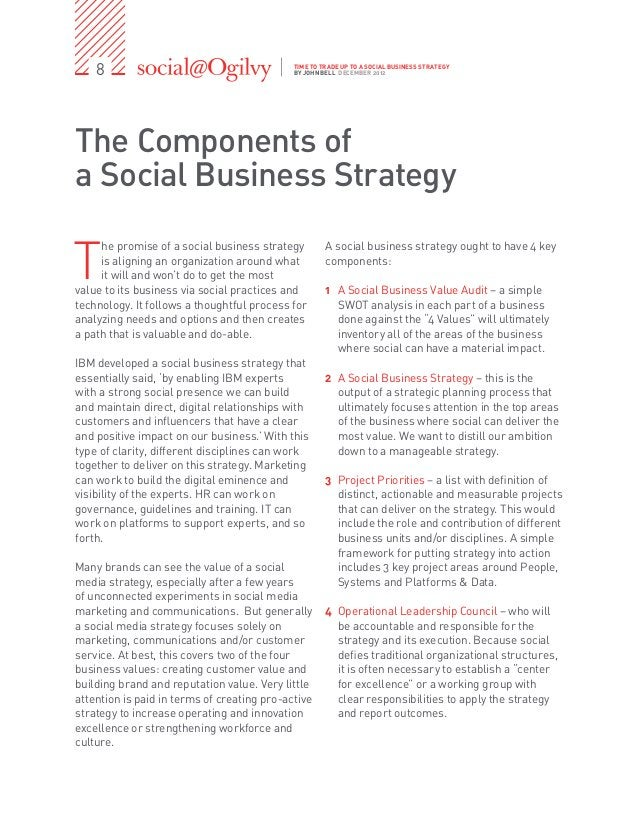 8                                        TIME TO TRADE UP TO A SOCIAL BUSINESS STRATEGY                                   ...
