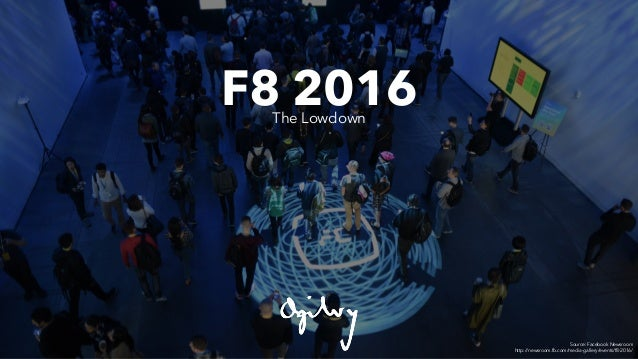 F8 2016The Lowdown Source: Facebook Newsroom http://newsroom.fb.com/media-gallery/events/f8-2016/