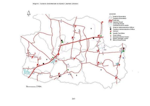 Lopburi Thailand Map.Decentralized Rural Development Planning A Case Study Of Khok Charo